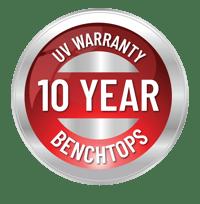 10yr warranty badge benchtops