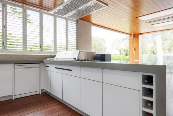 Beefeater Proline Corian Ash Concrete Matt White Alfresco Kitchen Mt Eliza Web Image