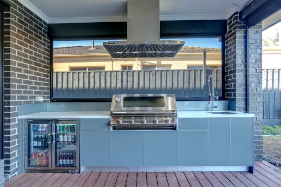 Beefeater Signature 5 Burner BBQ with Ash Grey and Corian Aspen 1 Web