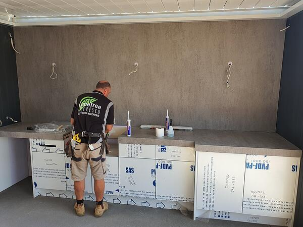 Installing an Outdoor Kitchen in Dekton Keon
