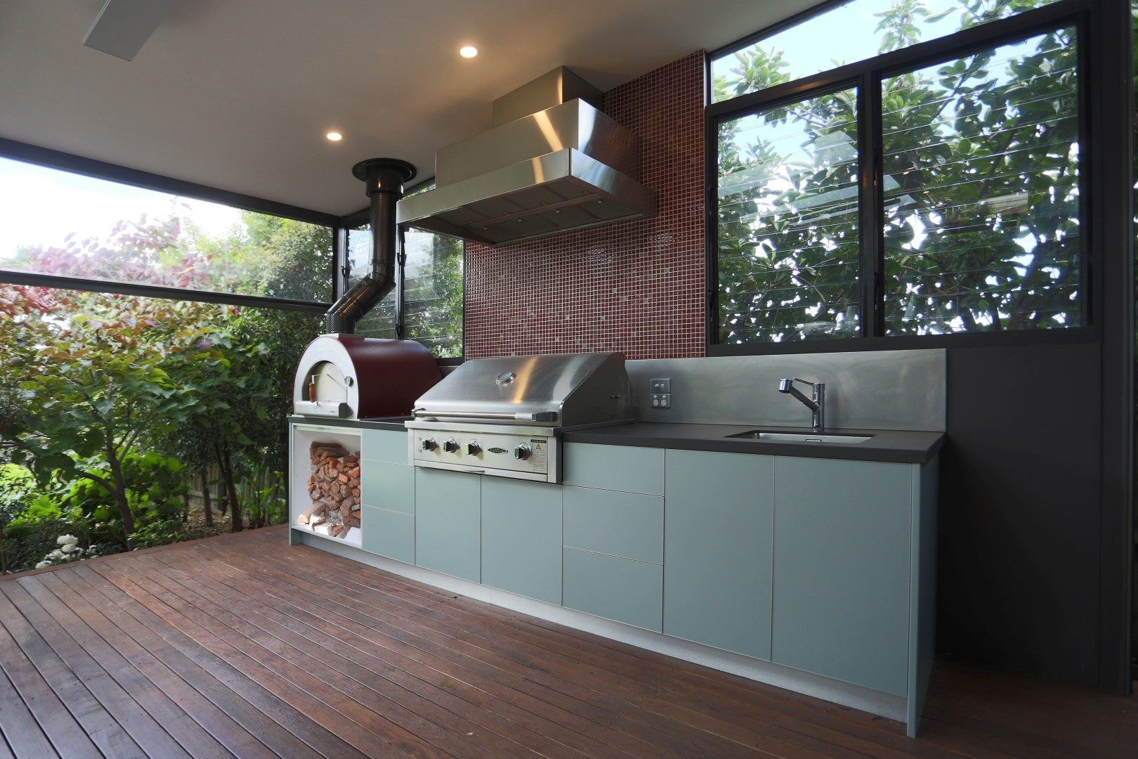 Capital 40 BBQ Pearl Grey Dekton Sirius Alfresco Kitchen