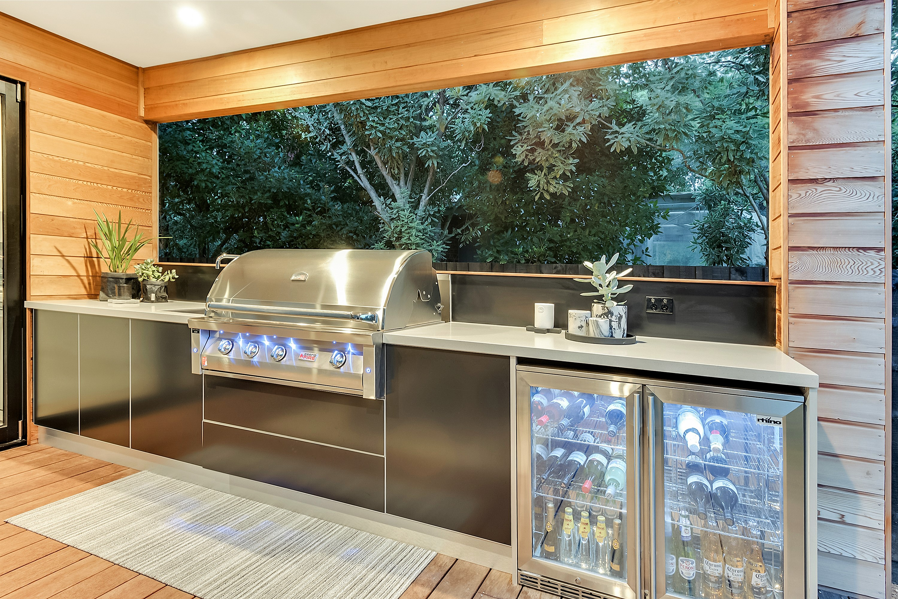 Grand Fire BBQ Outdoor Kitchen Blairgowrie Mornington Peninsula
