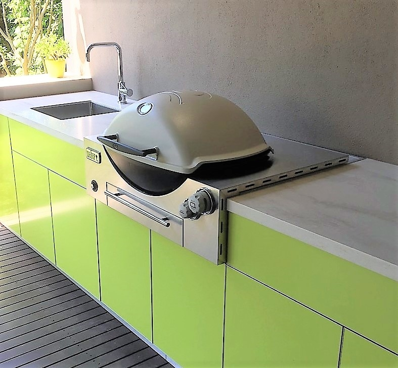Weber-Family-Q3600-Citrus-Green-Corian-Clamshell-Outdoor-Kitchen