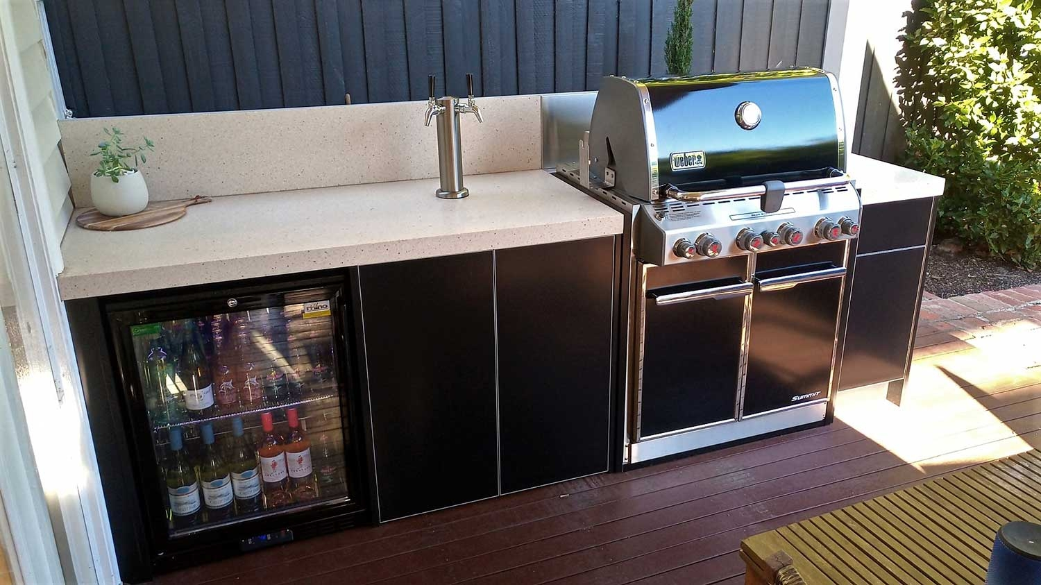 Weber-Summit-E460-Matte-Black-Corian-Fossil-Outdoor-Kitchen