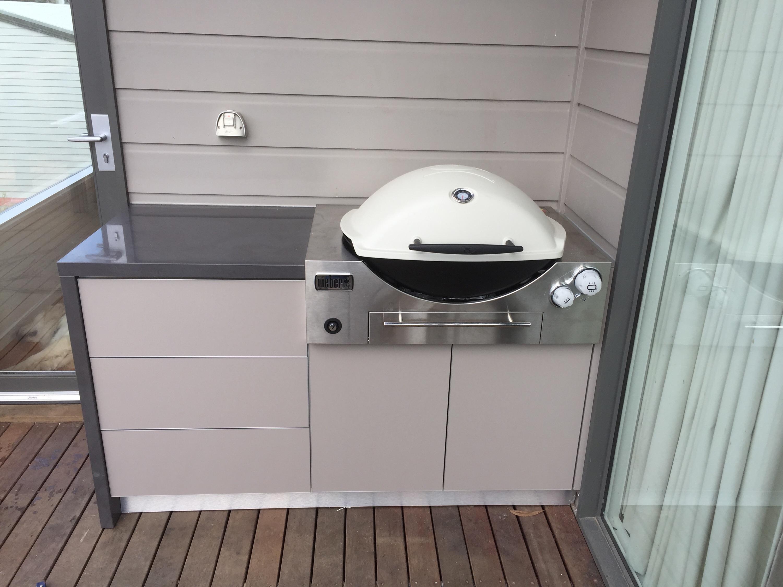 Weber Family Q Built in BBQ Unit BBQ Kitchen Cabinet